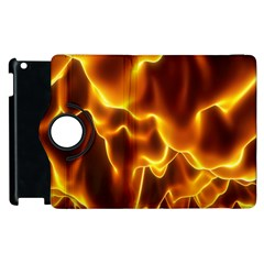 Sea Fire Orange Yellow Gold Wave Waves Apple Ipad 3/4 Flip 360 Case by Alisyart