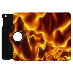 Sea Fire Orange Yellow Gold Wave Waves Apple Ipad Mini Flip 360 Case by Alisyart