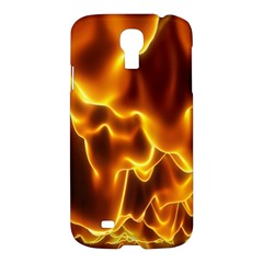 Sea Fire Orange Yellow Gold Wave Waves Samsung Galaxy S4 I9500/i9505 Hardshell Case by Alisyart
