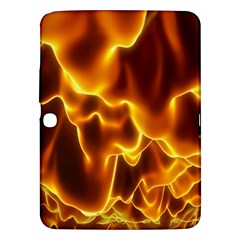 Sea Fire Orange Yellow Gold Wave Waves Samsung Galaxy Tab 3 (10 1 ) P5200 Hardshell Case  by Alisyart