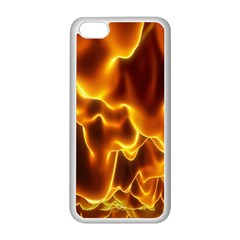 Sea Fire Orange Yellow Gold Wave Waves Apple Iphone 5c Seamless Case (white)