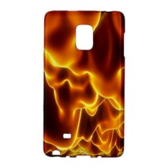 Sea Fire Orange Yellow Gold Wave Waves Galaxy Note Edge