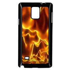 Sea Fire Orange Yellow Gold Wave Waves Samsung Galaxy Note 4 Case (black)