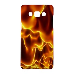 Sea Fire Orange Yellow Gold Wave Waves Samsung Galaxy A5 Hardshell Case  by Alisyart