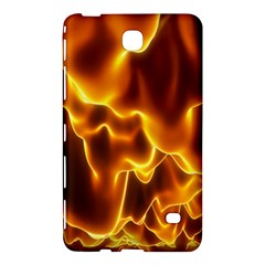 Sea Fire Orange Yellow Gold Wave Waves Samsung Galaxy Tab 4 (7 ) Hardshell Case  by Alisyart