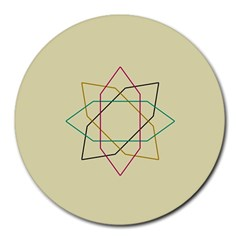 Shape Experimen Geometric Star Sign Round Mousepads by Alisyart