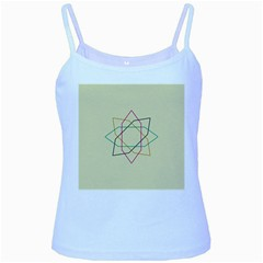 Shape Experimen Geometric Star Sign Baby Blue Spaghetti Tank by Alisyart