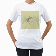 Shape Experimen Geometric Star Sign Women s T Shirt (white) (two Sided) by Alisyart