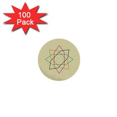 Shape Experimen Geometric Star Sign 1  Mini Buttons (100 Pack)
