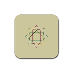 Shape Experimen Geometric Star Sign Rubber Square Coaster (4 Pack)  by Alisyart