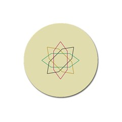 Shape Experimen Geometric Star Sign Magnet 3  (round) by Alisyart