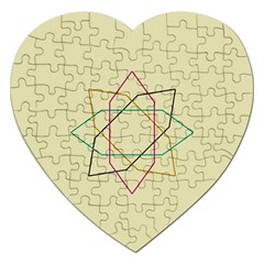 Shape Experimen Geometric Star Sign Jigsaw Puzzle (heart) by Alisyart