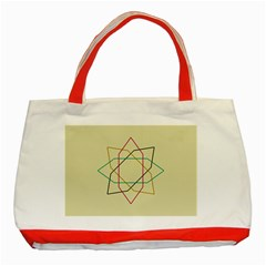 Shape Experimen Geometric Star Sign Classic Tote Bag (red) by Alisyart