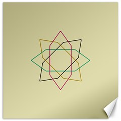 Shape Experimen Geometric Star Sign Canvas 12  X 12   by Alisyart