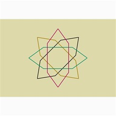 Shape Experimen Geometric Star Sign Canvas 24  X 36  by Alisyart