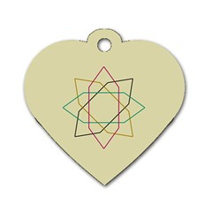 Shape Experimen Geometric Star Sign Dog Tag Heart (two Sides) by Alisyart