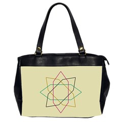 Shape Experimen Geometric Star Sign Office Handbags (2 Sides)