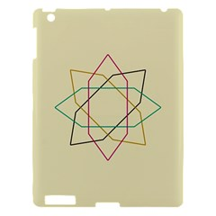 Shape Experimen Geometric Star Sign Apple Ipad 3/4 Hardshell Case by Alisyart