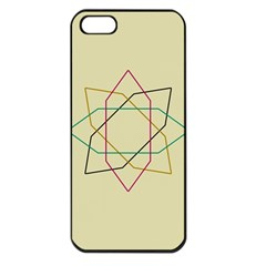 Shape Experimen Geometric Star Sign Apple Iphone 5 Seamless Case (black) by Alisyart