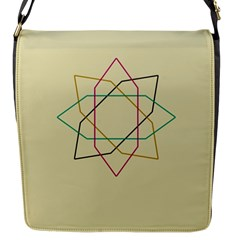 Shape Experimen Geometric Star Sign Flap Messenger Bag (s) by Alisyart
