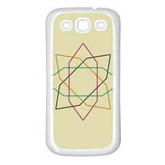 Shape Experimen Geometric Star Sign Samsung Galaxy S3 Back Case (white)