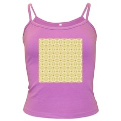 Gold Geometric Plaid Circle Dark Spaghetti Tank