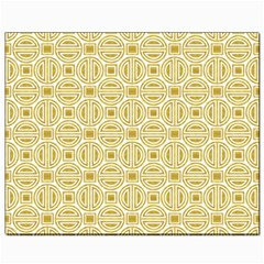 Gold Geometric Plaid Circle Canvas 8  X 10  by Alisyart
