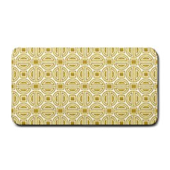 Gold Geometric Plaid Circle Medium Bar Mats