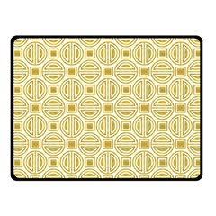 Gold Geometric Plaid Circle Fleece Blanket (small) by Alisyart