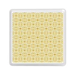 Gold Geometric Plaid Circle Memory Card Reader (square)  by Alisyart