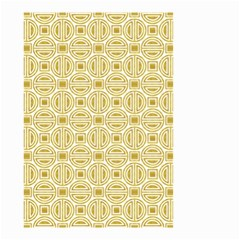 Gold Geometric Plaid Circle Small Garden Flag (two Sides) by Alisyart
