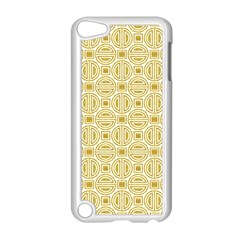 Gold Geometric Plaid Circle Apple Ipod Touch 5 Case (white)