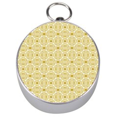 Gold Geometric Plaid Circle Silver Compasses