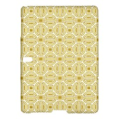 Gold Geometric Plaid Circle Samsung Galaxy Tab S (10 5 ) Hardshell Case  by Alisyart