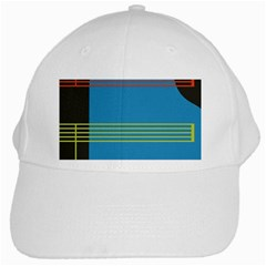 Sketches Tone Red Yellow Blue Black Musical Scale White Cap by Alisyart