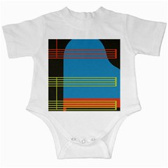 Sketches Tone Red Yellow Blue Black Musical Scale Infant Creepers by Alisyart