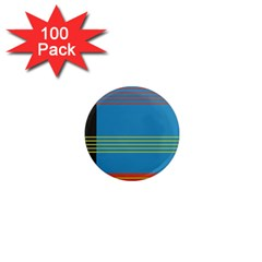 Sketches Tone Red Yellow Blue Black Musical Scale 1  Mini Magnets (100 Pack)