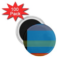 Sketches Tone Red Yellow Blue Black Musical Scale 1 75  Magnets (100 Pack)  by Alisyart