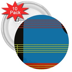 Sketches Tone Red Yellow Blue Black Musical Scale 3  Buttons (10 Pack)  by Alisyart