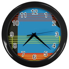 Sketches Tone Red Yellow Blue Black Musical Scale Wall Clocks (black) by Alisyart