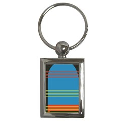 Sketches Tone Red Yellow Blue Black Musical Scale Key Chains (rectangle)  by Alisyart