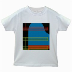Sketches Tone Red Yellow Blue Black Musical Scale Kids White T-shirts by Alisyart