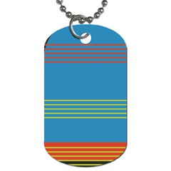 Sketches Tone Red Yellow Blue Black Musical Scale Dog Tag (one Side) by Alisyart