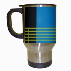 Sketches Tone Red Yellow Blue Black Musical Scale Travel Mugs (white)