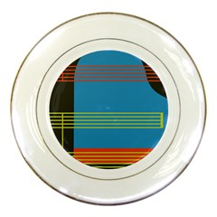 Sketches Tone Red Yellow Blue Black Musical Scale Porcelain Plates by Alisyart
