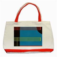 Sketches Tone Red Yellow Blue Black Musical Scale Classic Tote Bag (red) by Alisyart
