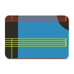 Sketches Tone Red Yellow Blue Black Musical Scale Plate Mats by Alisyart