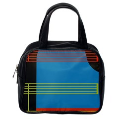 Sketches Tone Red Yellow Blue Black Musical Scale Classic Handbags (one Side) by Alisyart