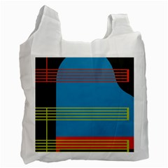 Sketches Tone Red Yellow Blue Black Musical Scale Recycle Bag (one Side) by Alisyart