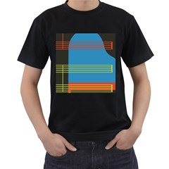 Sketches Tone Red Yellow Blue Black Musical Scale Men s T Shirt (black) by Alisyart
